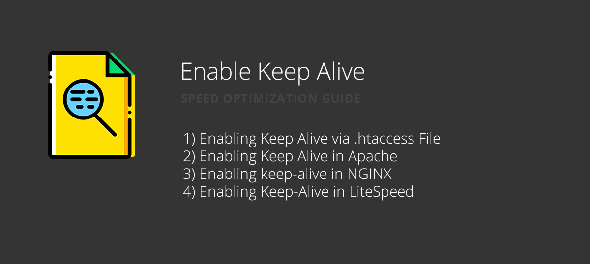 Enable Keep Alive for website speed optimization
