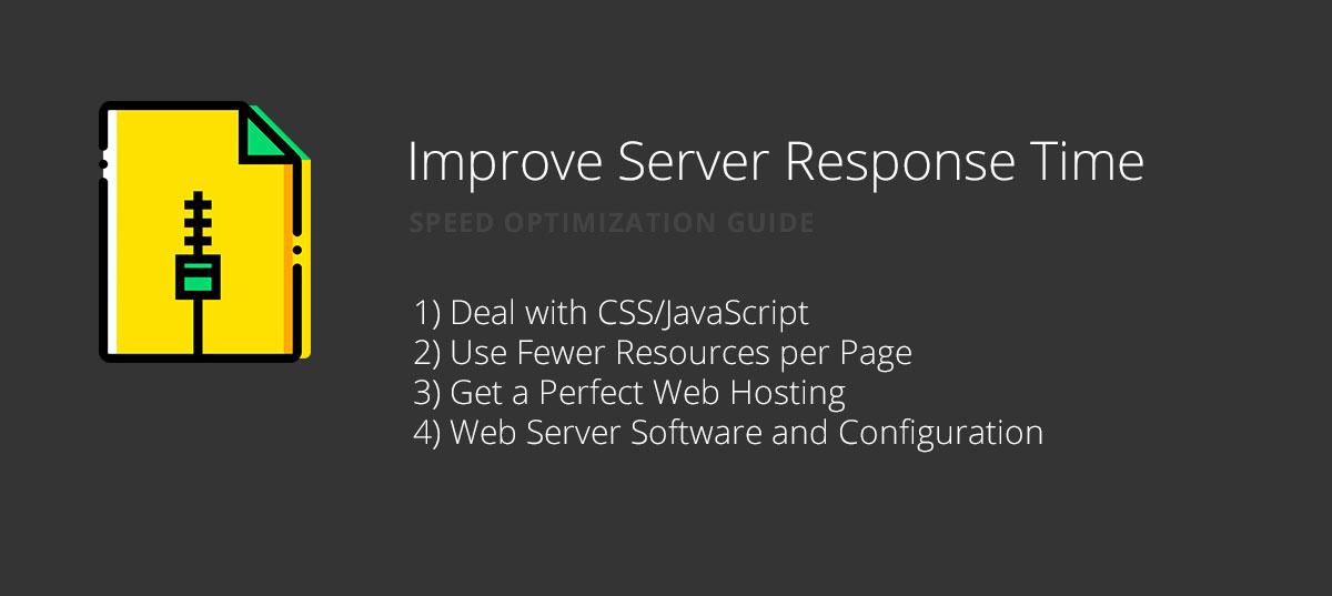 Improve Server Response Time for website speed optimization