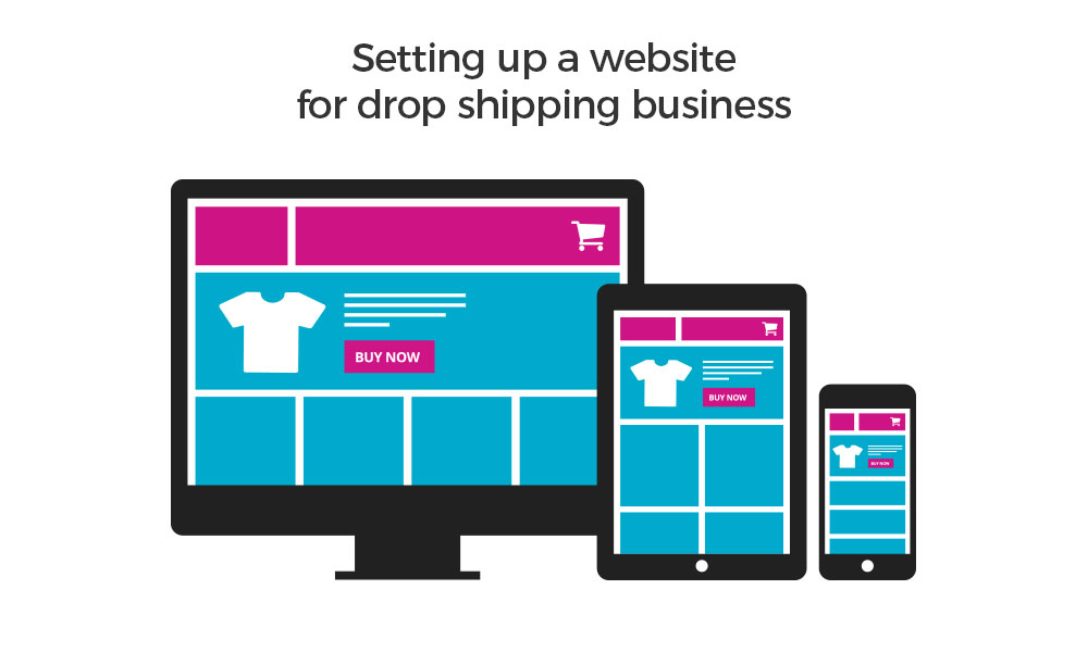 Setup an ecommerce platform website for dropshipping business model