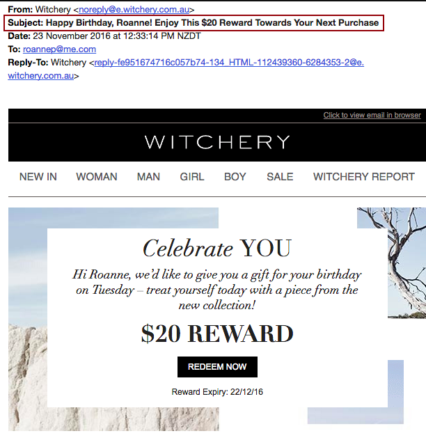 customized email subject line email marketing tricks