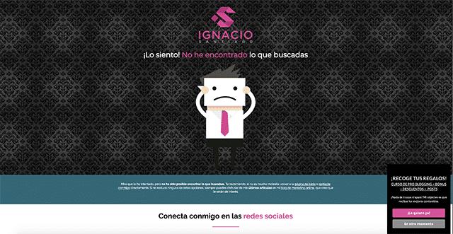 Ejemplo de error 404 Ignacio Santiago