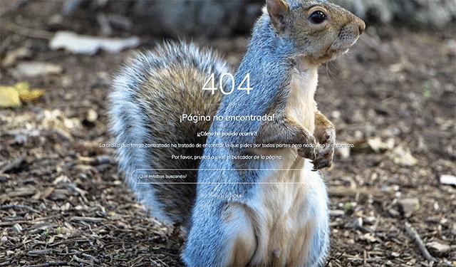 Ejemplo de error 404 Jesus Pernas