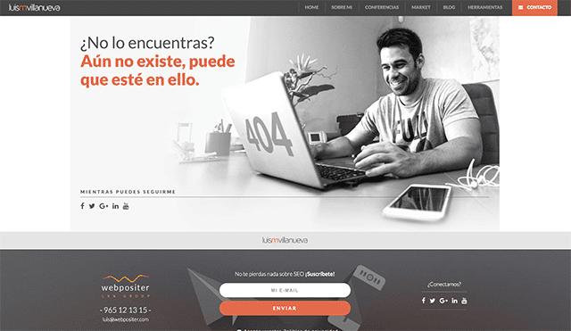 Ejemplo de error 404 Luis M Villanueva