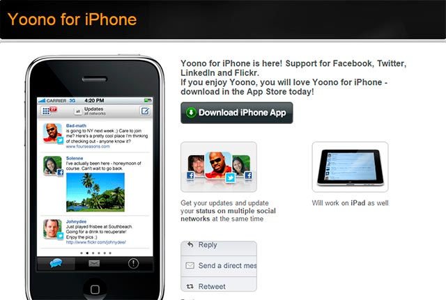 yoono iphone online digital marketing tools