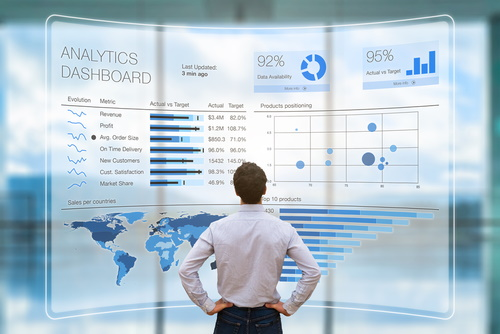 a man analyzing key perfornance indicators KPIs what is a kpi in marketing