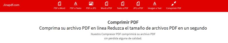 JinaPDF, Compress PDF Files Online