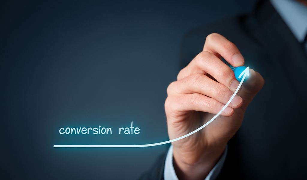 It is for conversion rate. Growing increase conversion rate draw graph growing.