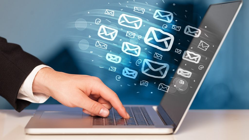 The concept of sending e-mail from your computer