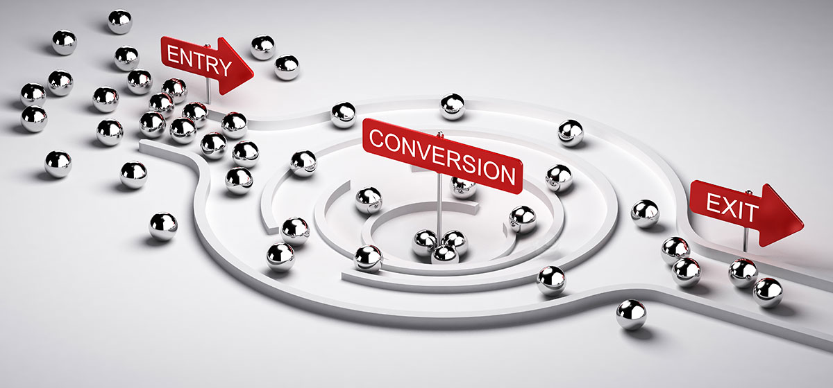 a funnel with input and output, Business or Marketing concept sales rate