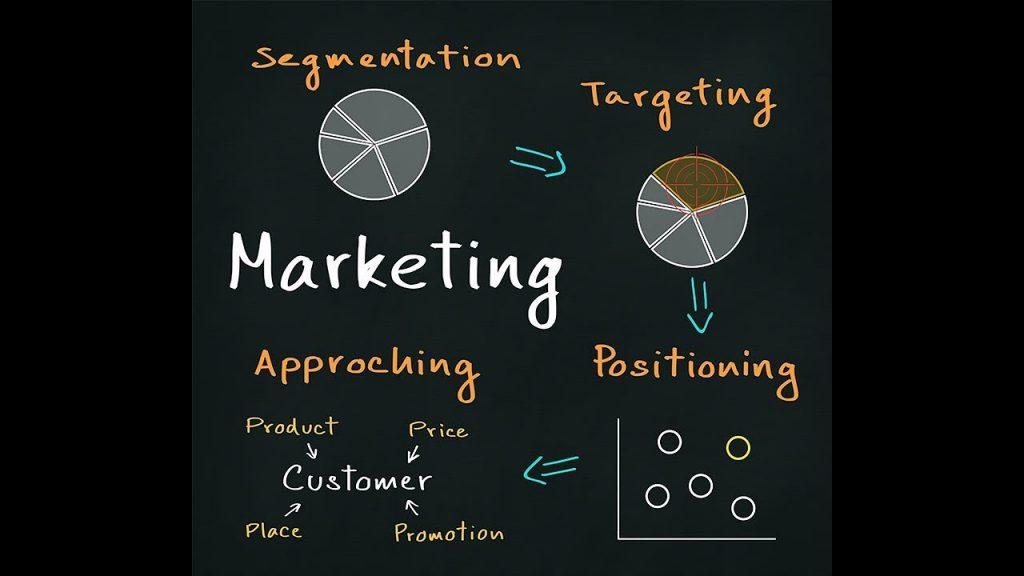marketing process concept ( segmentation - targeting - positioning - approaching )