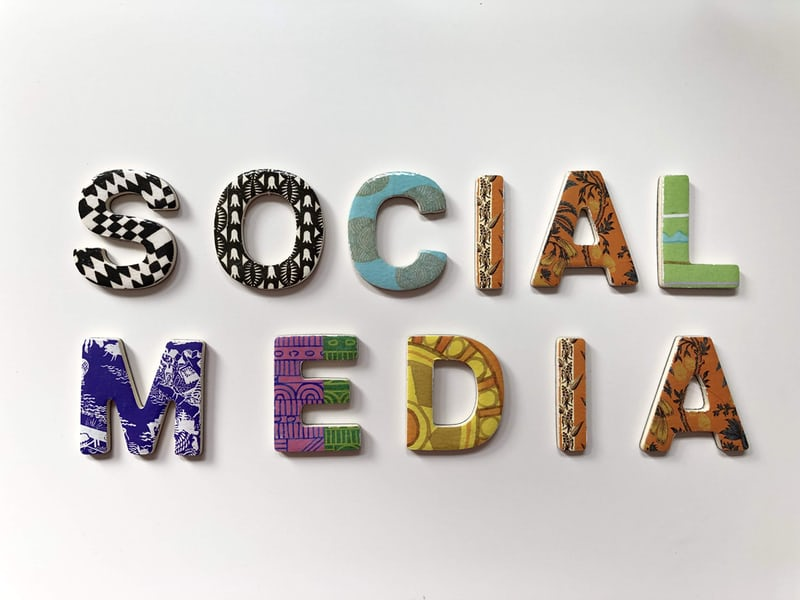 Social media with assorted color