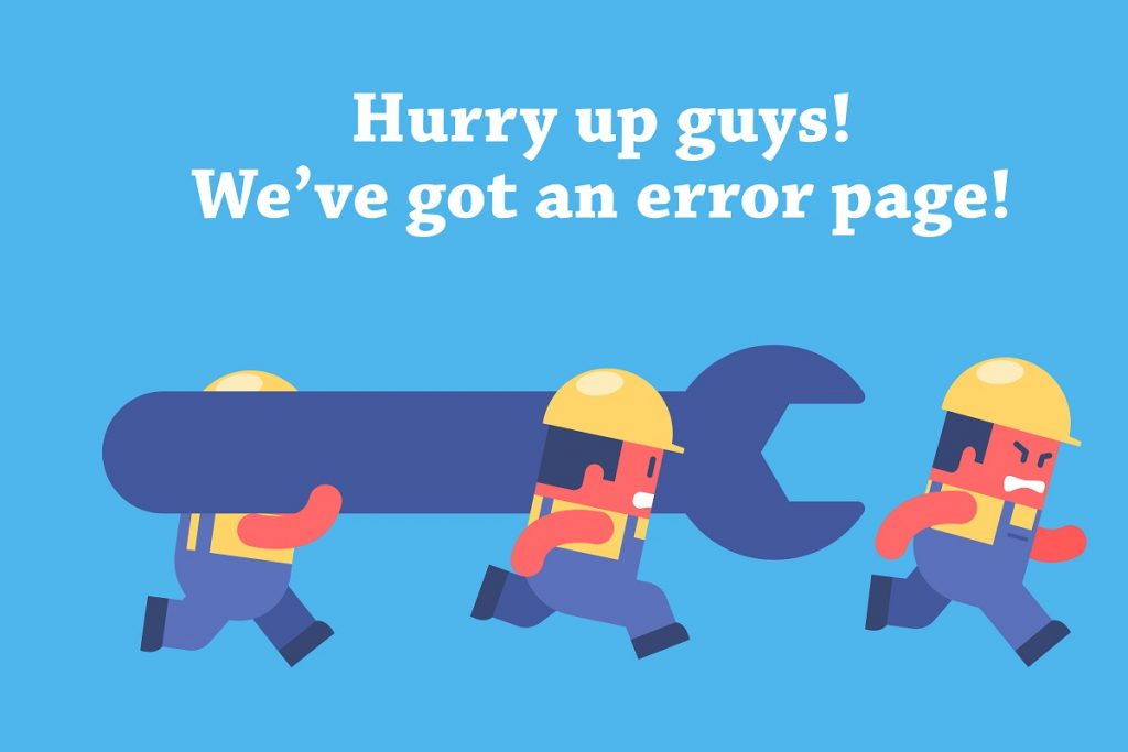 hurry up guys! we've got an error page