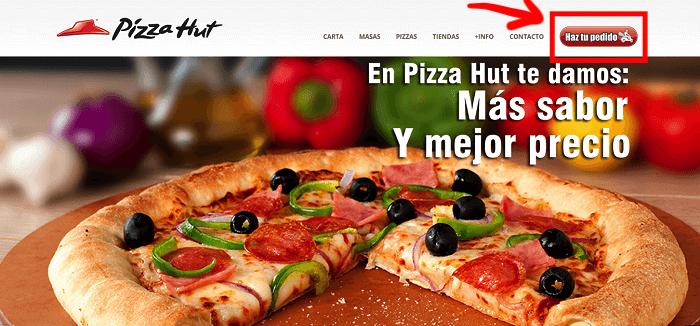 Pizza hut homepage