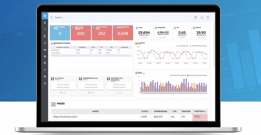 Raventools homepage seo tools