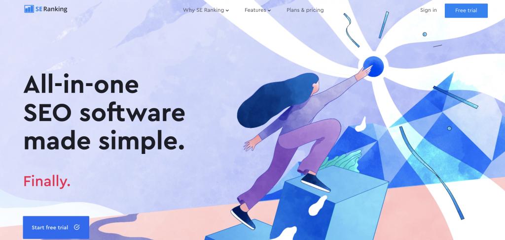 Seo tools , seranking homepage