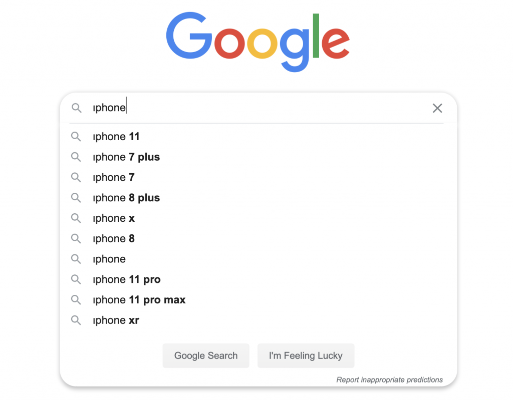 Suggested search