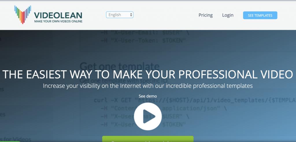 Videolean homepage