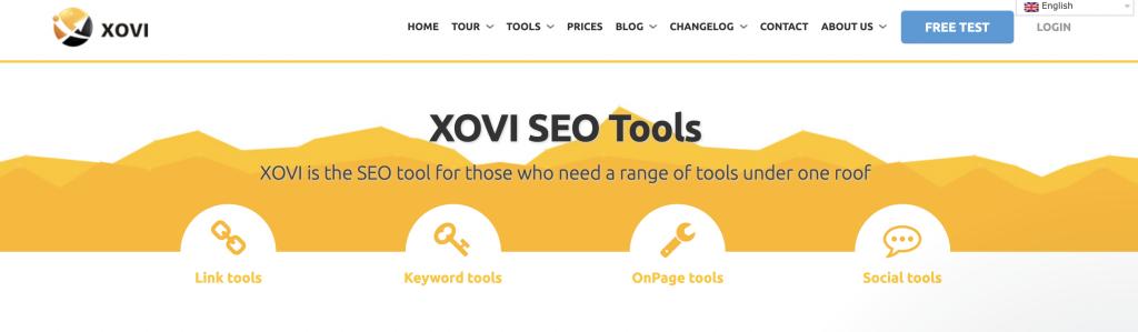 XOVI homepage seo tool