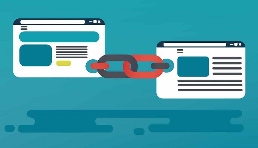 backlinks link building seo concept
