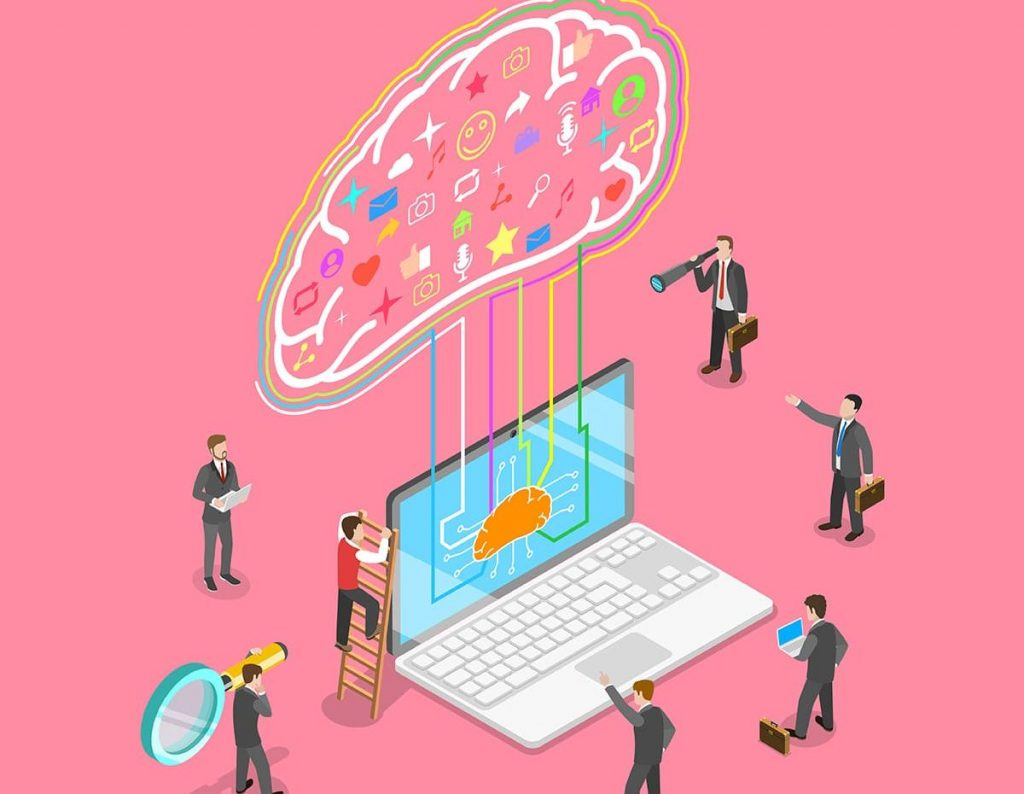 concept of neuromarketing, digital compaign, commercial marketing strategy, ai, artificial intelligence.