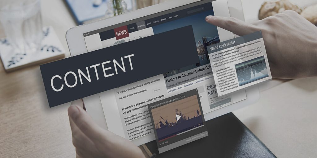 content page, hand in the image