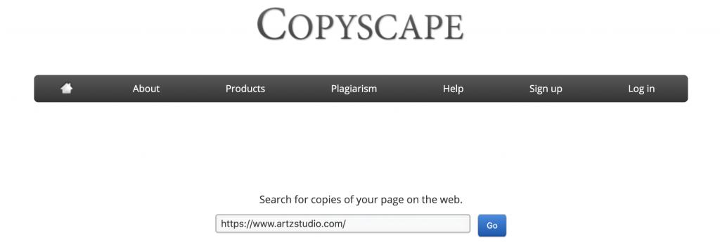 copyscape home page artzstudio