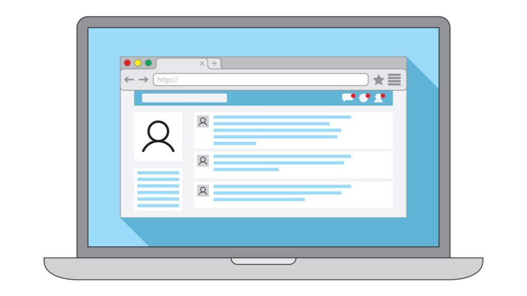 internet browser window open social