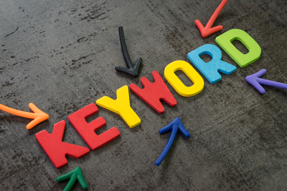 keyword, colorful and arrow