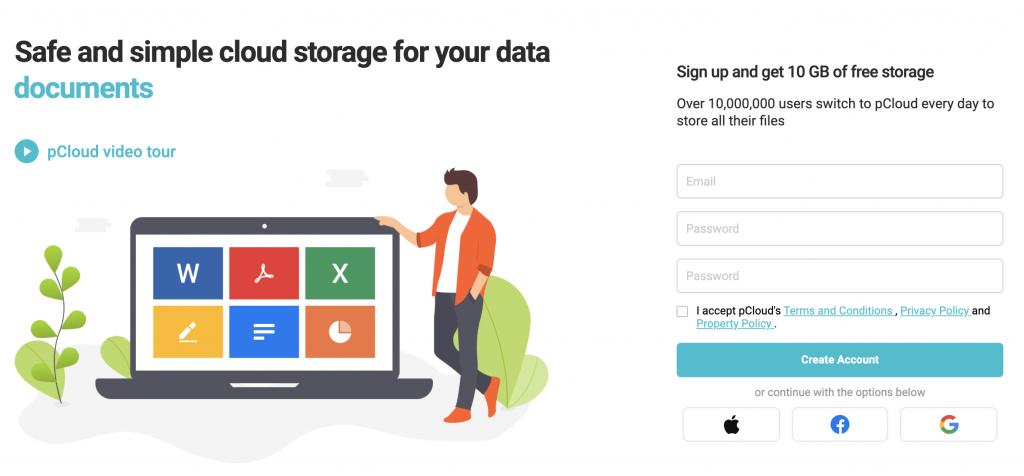 free cloud storage example