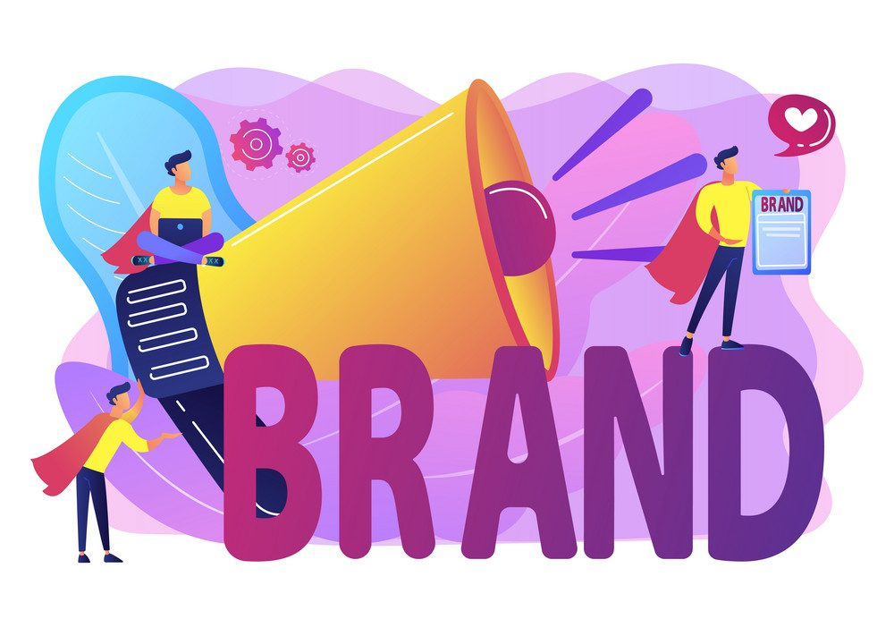 Company identity, marketing and promotional campaign. Personal brand, self-positioning, individual brand strategy, build your personal brand concept.