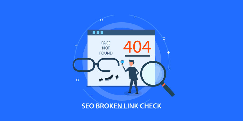 Broken link check, 404 not found page