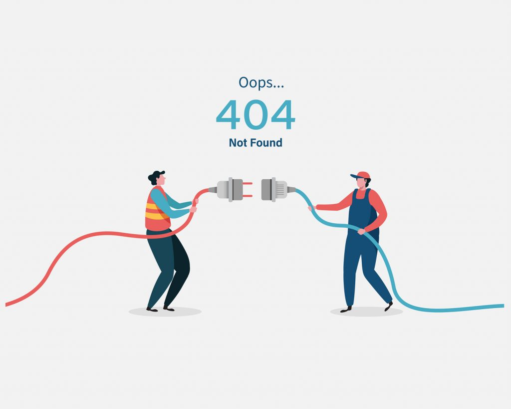 404 error page not found System updates, uploading, operation, computing,installation programs. system maintenance. Flat vector illustration modern character design. For a landing page