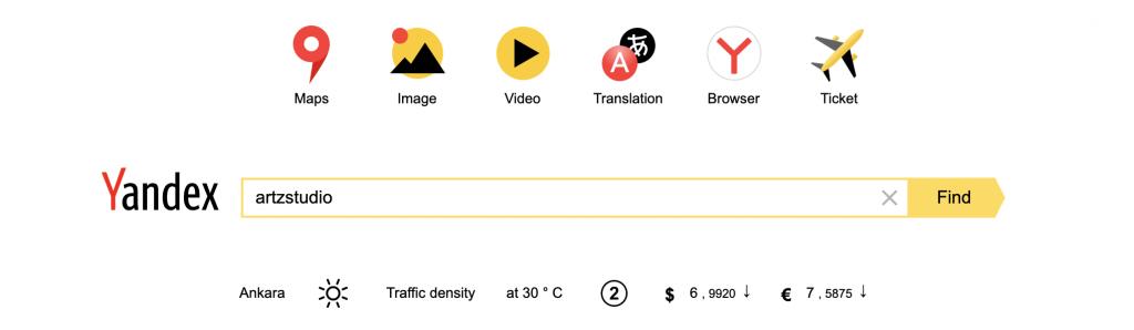 yandex search example